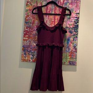 Burgundy Zara dress